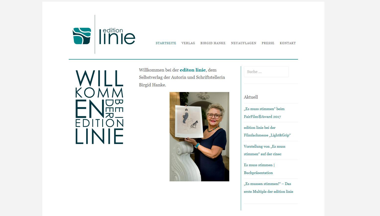 edition linie von Birgid Hanke